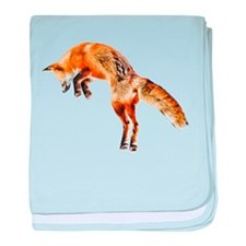 Leaping Fox baby blanket
