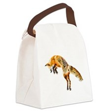 Leaping Fox Canvas Lunch Bag