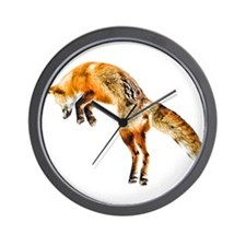 Leaping Fox Wall Clock
