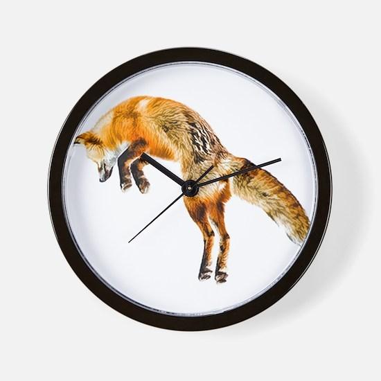 Leaping Fox Wall Clock