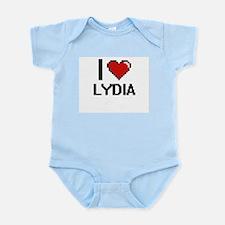 I Love Lydia Digital Retro Design Body Suit