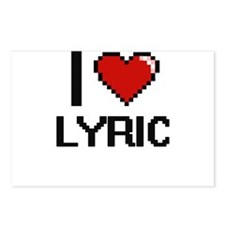 I Love Lyric Digital Retr Postcards (Package of 8)