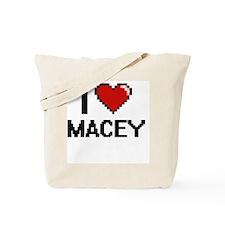 I Love Macey Digital Retro Design Tote Bag