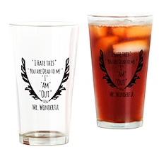 RightOn Mr.Wonderful Drinking Glass