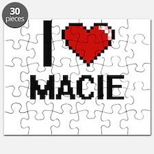 I Love Macie Digital Retro Design Puzzle