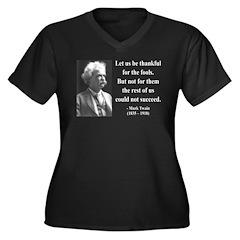 Mark Twain 17 Women's Plus Size V-Neck Dark T-Shir