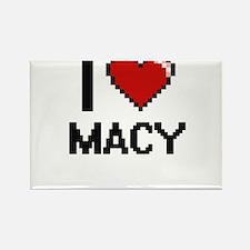 I Love Macy Digital Retro Design Magnets
