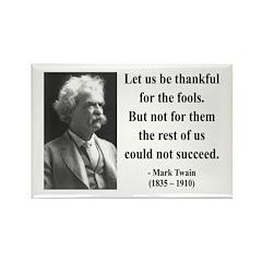 Mark Twain 17 Rectangle Magnet