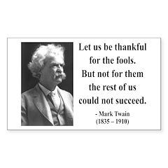 Mark Twain 17 Rectangle Decal