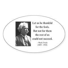 Mark Twain 17 Oval Decal