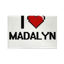 I Love Madalyn Digital Retro Design Magnets