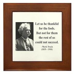 Mark Twain 17 Framed Tile