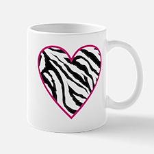 zebra heart.png Mugs