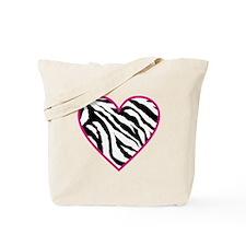 zebra heart.png Tote Bag