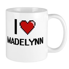 I Love Madelynn Digital Retro Design Mugs