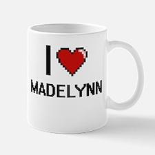 I Love Madelynn Digital Retro Design Mugs