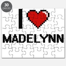 I Love Madelynn Digital Retro Design Puzzle