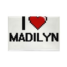 I Love Madilyn Digital Retro Design Magnets