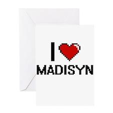 I Love Madisyn Digital Retro Design Greeting Cards