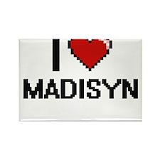 I Love Madisyn Digital Retro Design Magnets