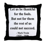 Mark Twain 17 Throw Pillow