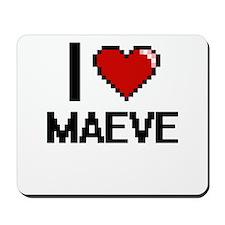 I Love Maeve Digital Retro Design Mousepad