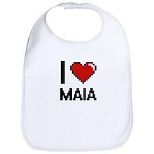 I Love Maia Digital Retro Design Bib