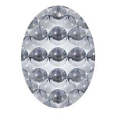 disco ball Oval Ornament