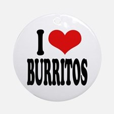 I Love Burritos Ornament (Round)