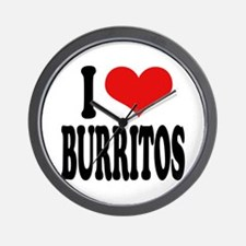 I Love Burritos Wall Clock