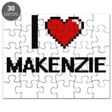 I Love Makenzie Digital Retro Design Puzzle