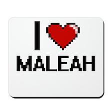 I Love Maleah Digital Retro Design Mousepad