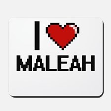 I Love Maleah Digital Retro Design Mousepad