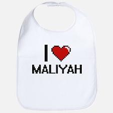 I Love Maliyah Digital Retro Design Bib