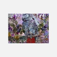 Purple Parrot 5'x7'Area Rug