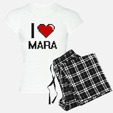 I Love Mara Digital Retro D Pajamas