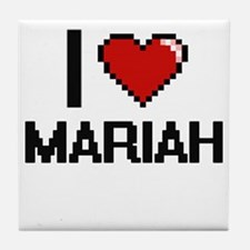 I Love Mariah Digital Retro Design Tile Coaster