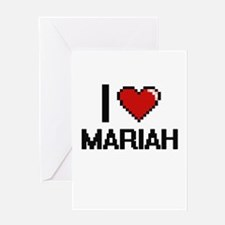 I Love Mariah Digital Retro Design Greeting Cards