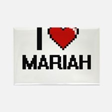 I Love Mariah Digital Retro Design Magnets