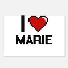 I Love Marie Digital Retr Postcards (Package of 8)