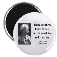 "Mark Twain 18 2.25"" Magnet (10 pack)"