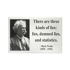 Mark Twain 18 Rectangle Magnet (10 pack)