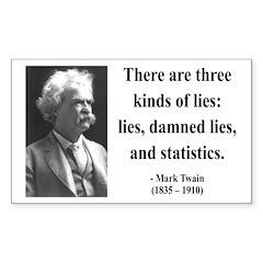 Mark Twain 18 Rectangle Decal