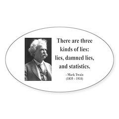 Mark Twain 18 Oval Decal