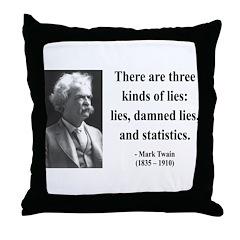 Mark Twain 18 Throw Pillow