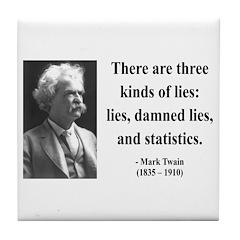 Mark Twain 18 Tile Coaster