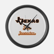 Texas Tax Inspector Large Wall Clock