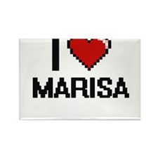 I Love Marisa Digital Retro Design Magnets