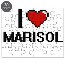 I Love Marisol Digital Retro Design Puzzle