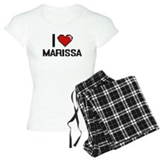 I Love Marissa Digital Retr pajamas